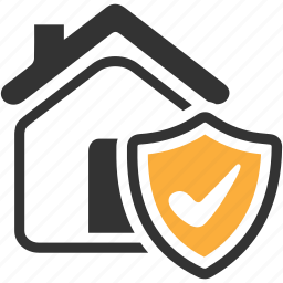 home, house, insurance, security, shield icon icon
