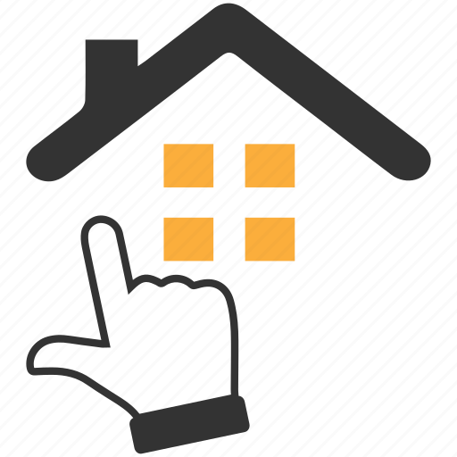 choose, click, estate, home loan, house, online, real icon
