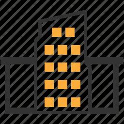 building, city, hotel, office icon icon