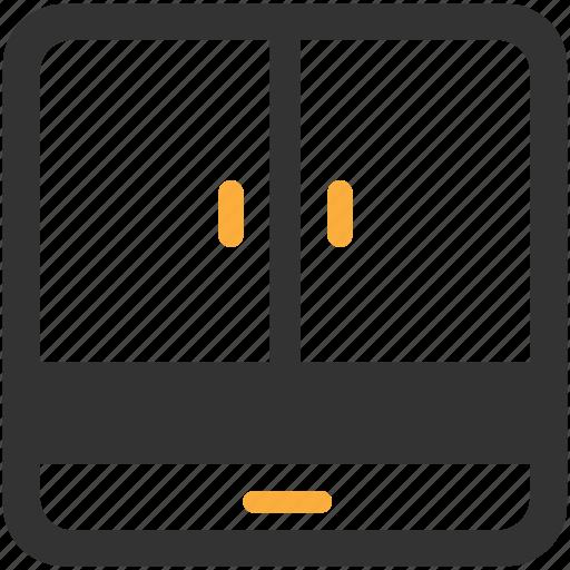 almirah, cabinet, drawer, furniture, interior, wardrobe icon icon
