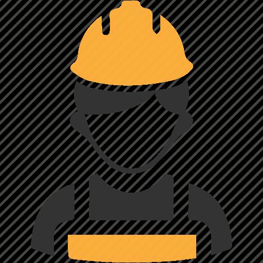 builder, constructor, helmet, worker icon icon