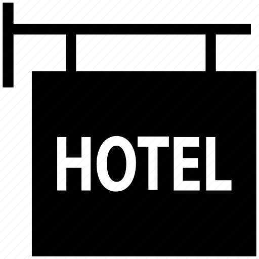 hotel, info sign, information, signboard icon