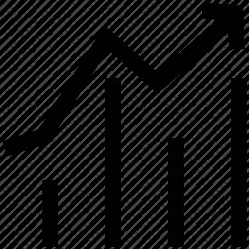 bar chart, growth, line graph, profit, progress, statistic icon