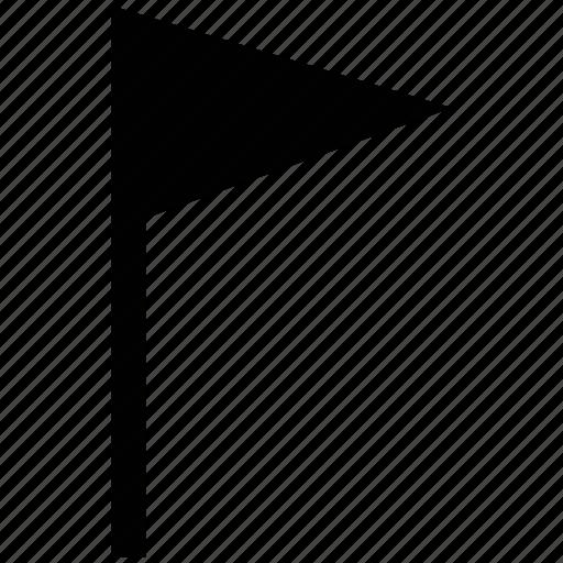 ensign, flag, location ensign, location sign, locational, triangular icon