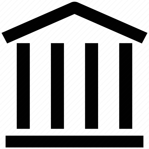 bank, building, court, finance, office, real estate icon