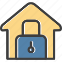 house, lock, real estate, security