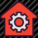 configuration, gear, real estate, settings