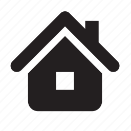 chimney, home, house, new home, real estate, roof, window icon