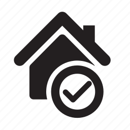 approved, available, checkmark, home, house, real estate, safety icon