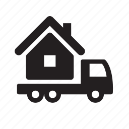 home, home relocation, house, move, real estate, relocation, truck icon