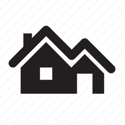 chimney, garage, home, house, new house, real estate, roof icon