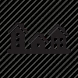 community, condominium, home, house, houses, neighborhood, real estate icon