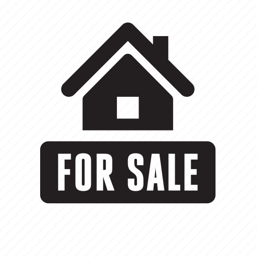 advertisement, for sale, home, house, real estate, realtor sign, sale icon