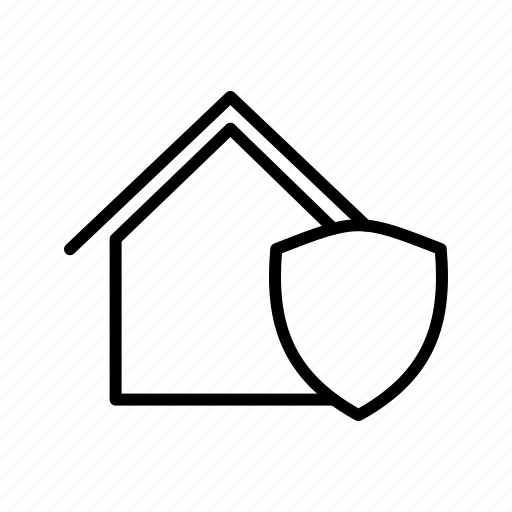House insurance, house shield, house protection icon - Download on Iconfinder
