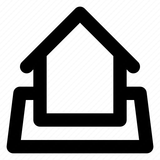 building, city, estate, home, house, land, real icon