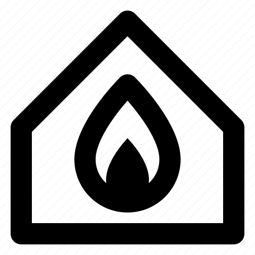 burning, city, estate, home, house, housing, real icon