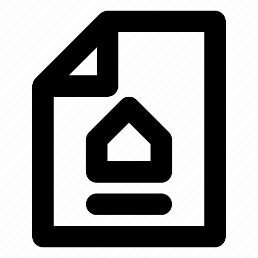 city, document, estate, home, house, housing, real icon