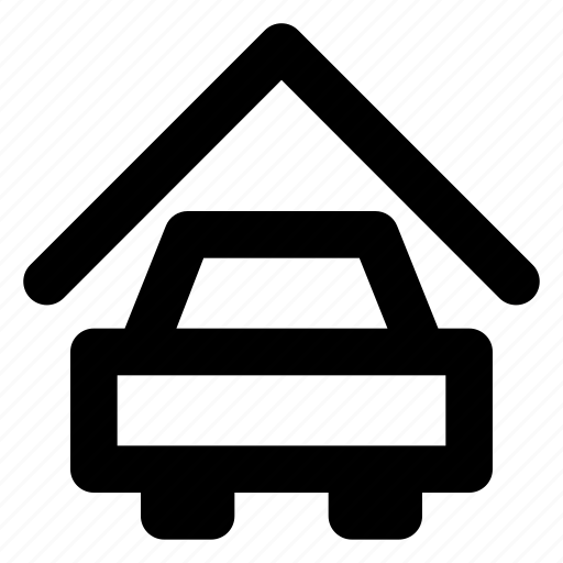 city, estate, garage, home, house, housing, real icon