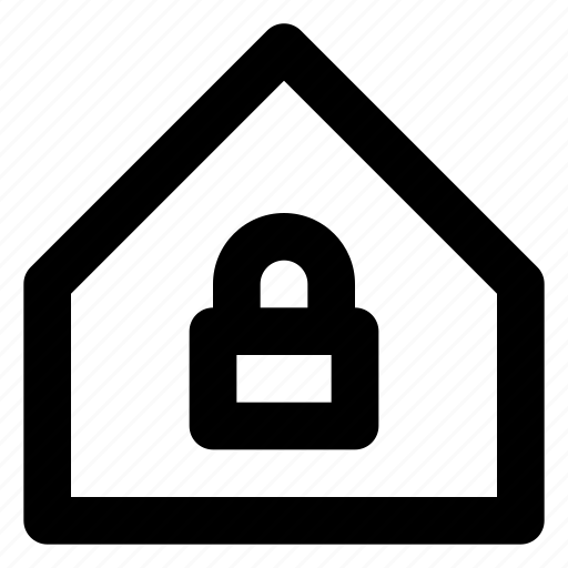 city, estate, home, house, housing, padlock, real icon