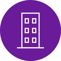 apartment, building, flats, office icon