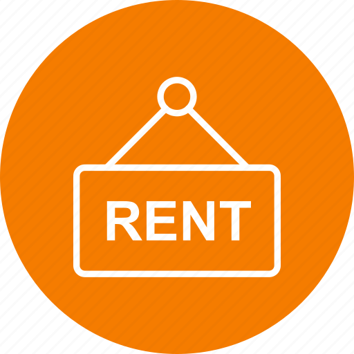 offer, rent, sign icon