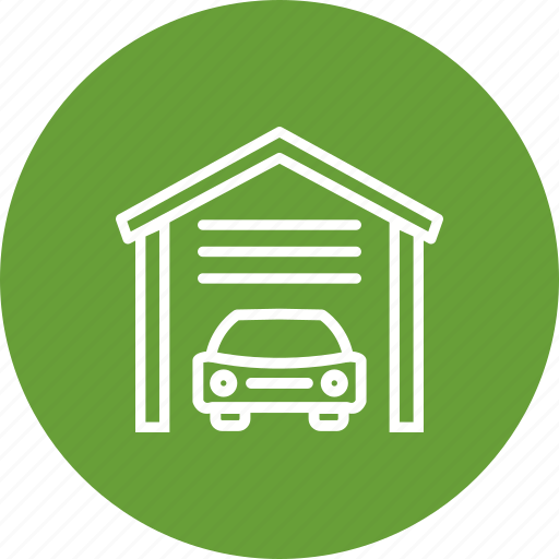 car garage, garage, home garage, house garage, parking icon