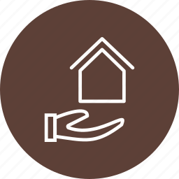 house, house in hand, house on hand, mortgage icon