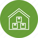 house, storage, storage unit, warehouse icon