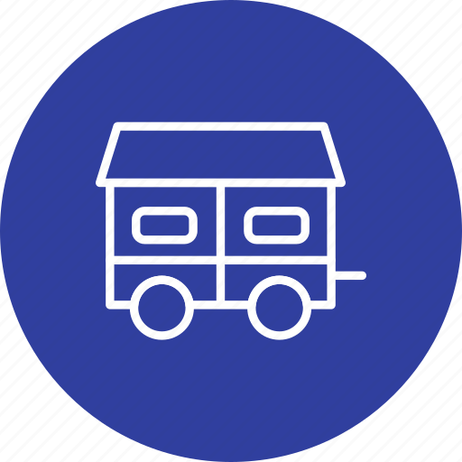 container house, home, house on truck, mobile home, moving house icon