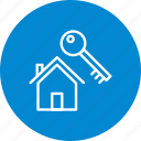 house, key, new home icon