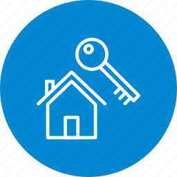 home, house, key, new home icon