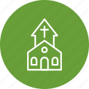 bible, christian, church, church building, cross, worship icon