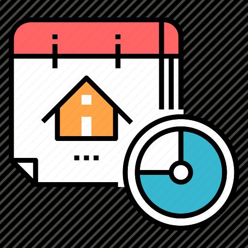appointment, calendar, construction schedule, deadline, estate, schedule, time icon