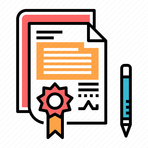 Form, agreement, contract, sign, legal, signature, document icon