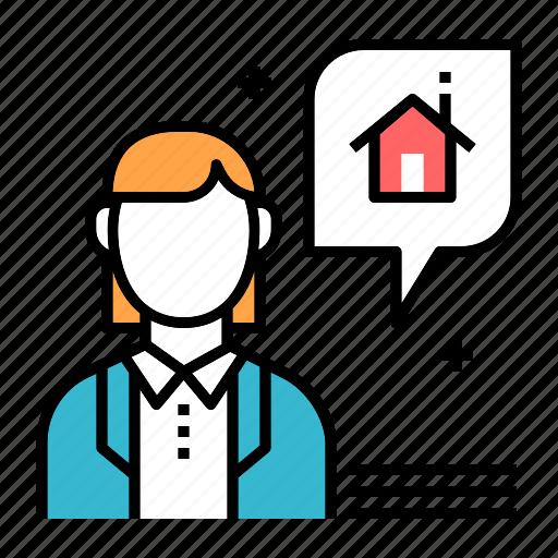 agent, estate, estate agent, house, profession, property, realtor icon