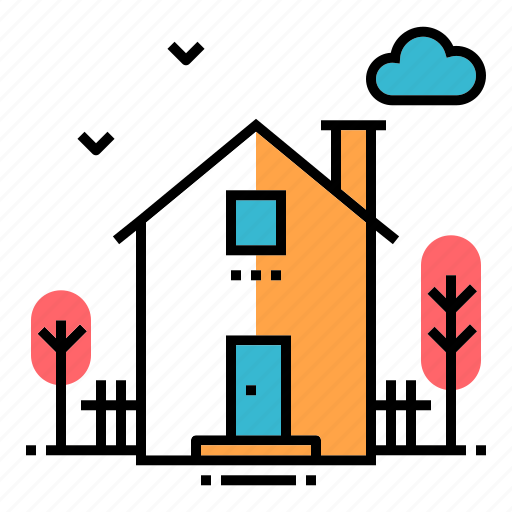 estate, exterior, home, house, housing, property, residential icon