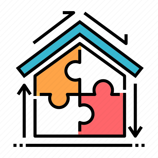 assembly, construction, estate, house, house assemble, layout, property icon