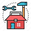 construction, decoration, house, house renovation, renovate, renovation, tools icon