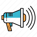 advertising, announce, broadcast, communication, marketing, megaphone, promotion icon