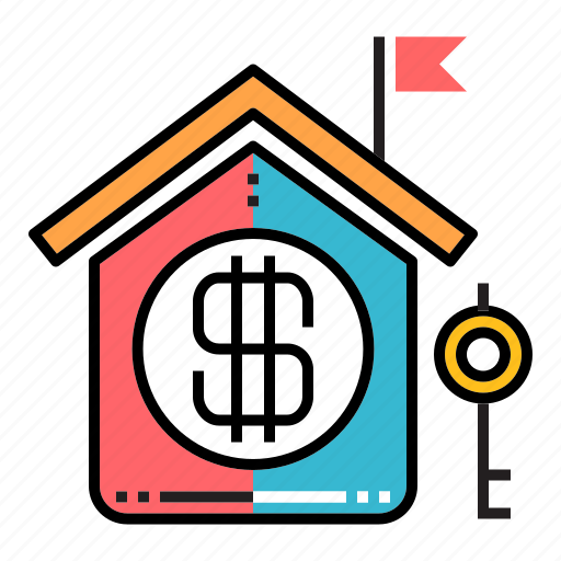 estate, house, investment, mortgage, profit, property, property investment icon