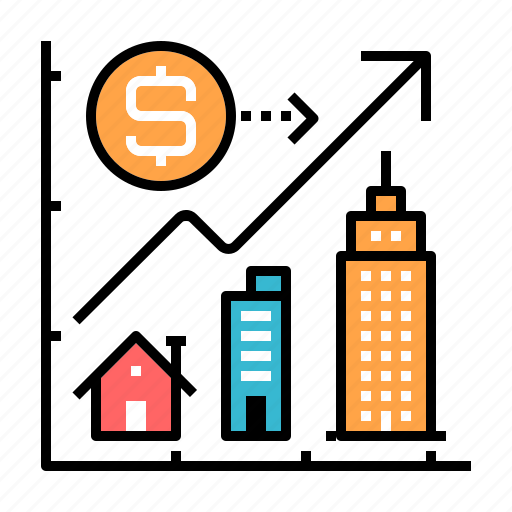 estate, home, investment, property, property valuation, residential, valuation icon