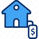 dollar, home, house, real estate
