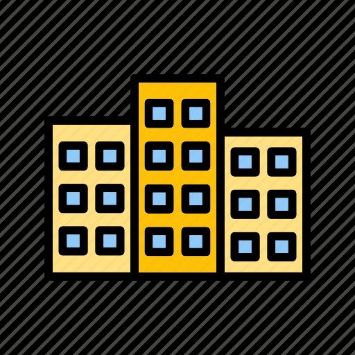 architecture, build, building, building blocks, building construction, office building icon