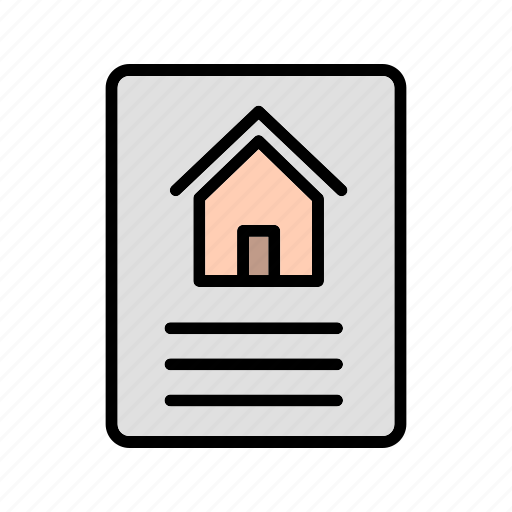 document, file, house document, important file, report icon