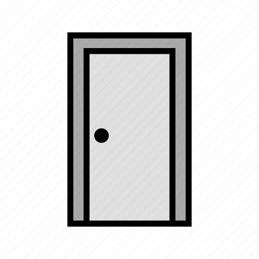 closed door, door, gate, wooden door icon