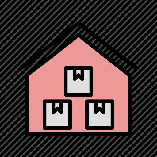 house, storage, storage unit, warehouse icon