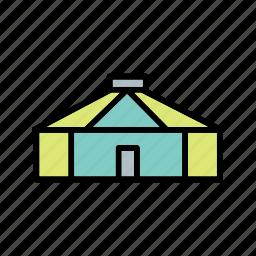 camping, hut, tent, yurt icon