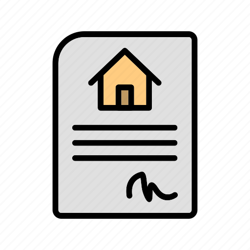 Contract, house, deal icon - Download on Iconfinder