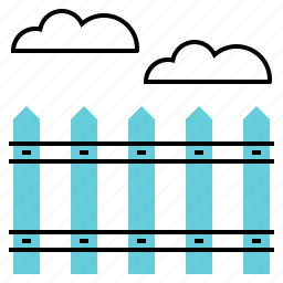 area, border, fence, land icon