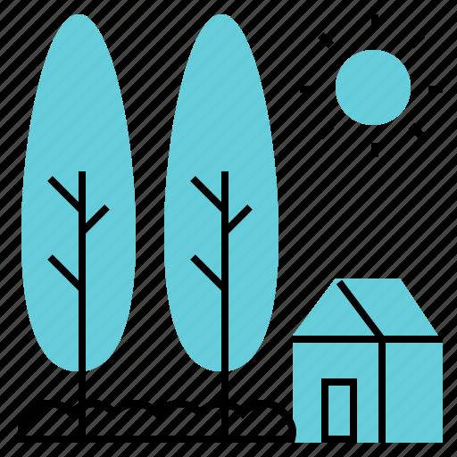 garden, home, house, landscape, resort icon